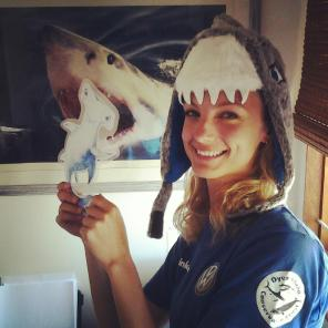 Michelle Jewell with shark Stanley