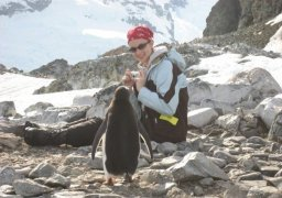 Michelle Jewell in the Antarctic